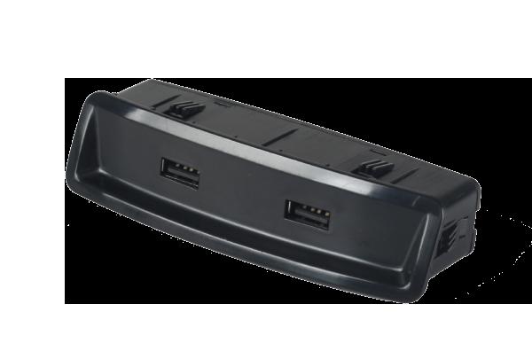 12V/2.1A*2  双USB插座+手机识别