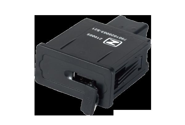 12V/2.1A USB 24V/2.4A +手机识别(可选)